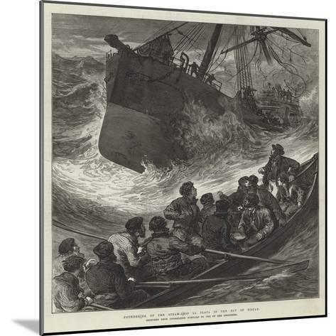 Foundering of the Steam-Ship La Plata in the Bay of Biscay--Mounted Giclee Print