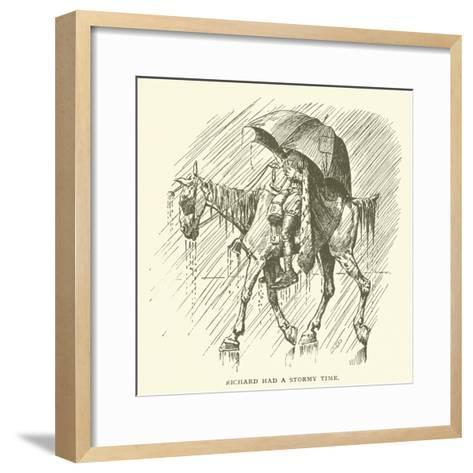 Richard Had a Stormy Time--Framed Art Print