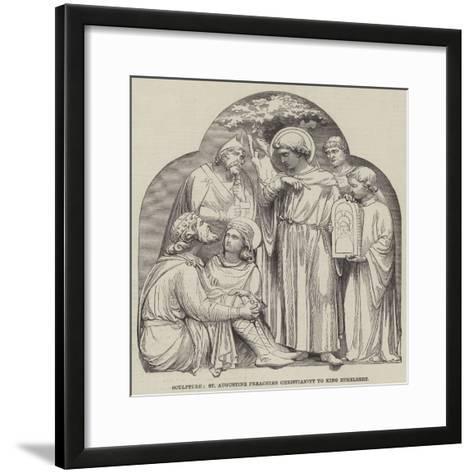 Sculpture, St Augustine Preaching Christianity to King Ethelbert--Framed Art Print