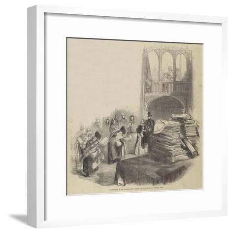 Distribution of Her Majesty's New Year's Alms on 1 January 1846--Framed Art Print