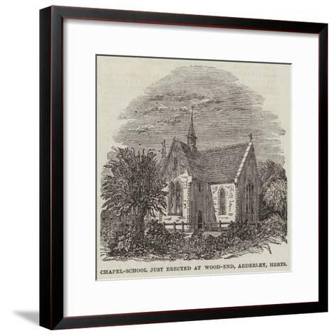 Chapel-School Just Erected at Wood-End, Arderley, Hertfordshire--Framed Art Print