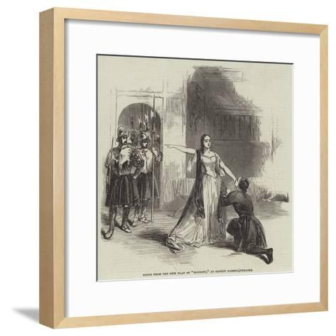 Scene from the New Play of Honesty, at Covent Garden Theatre--Framed Art Print