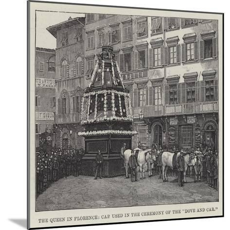 The Queen in Florence, Car Used in the Ceremony of the Dove and Car--Mounted Giclee Print