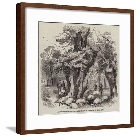 The Recent Thunderstorm, Sheep Killed by Lightning in Hyde Park--Framed Art Print