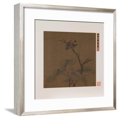 Bird on a Branch--Framed Art Print