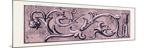 Renaissance Ornament--Mounted Giclee Print