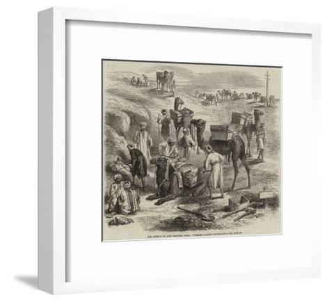 The Isthmus of Suez Maritime Canal, Workmen Loading Dromedaries--Framed Art Print