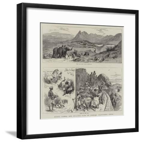 Horse, Camel, and Bullock Fair at Pokhar, Rajputana, India--Framed Art Print