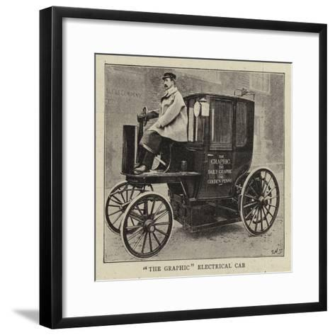 The Graphic Electrical Cab--Framed Art Print