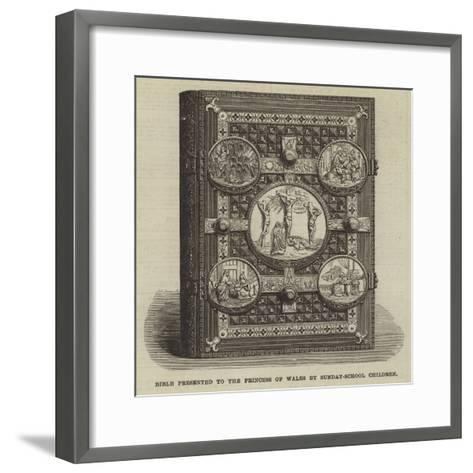 Bible Presented to the Princess of Wales by Sunday-School Children--Framed Art Print