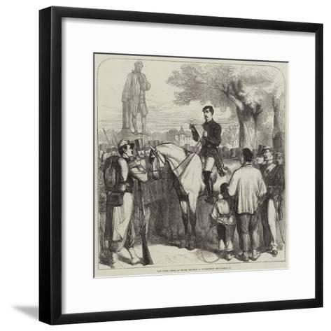 The Town Crier of Tours Reading a Government Proclamation--Framed Art Print