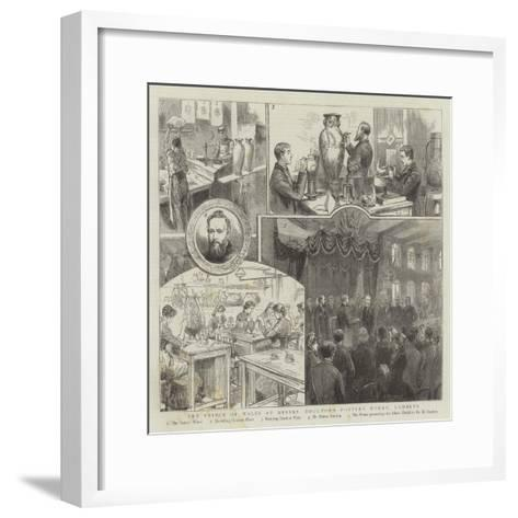 The Prince of Wales at Messrs Doulton's Pottery Works, Lambeth--Framed Art Print
