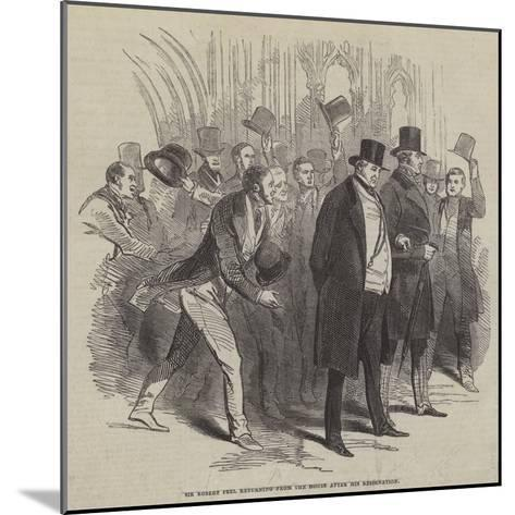 Sir Robert Peel Returning from the House after His Resignation--Mounted Giclee Print