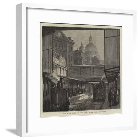 A Peep at St Paul's and The Times Office from Underground--Framed Art Print