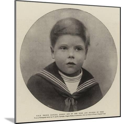 H R H Prince Edward, Eldest Son of the Duke and Duchess of York--Mounted Giclee Print