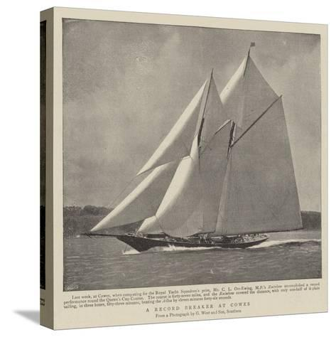 A Record Breaker at Cowes--Stretched Canvas Print