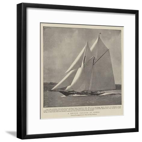 A Record Breaker at Cowes--Framed Art Print
