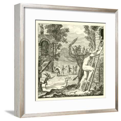 Devils Would Often Lay Hold of Men and Flog Them. Abbe Boileau--Framed Art Print