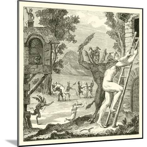 Devils Would Often Lay Hold of Men and Flog Them. Abbe Boileau--Mounted Giclee Print