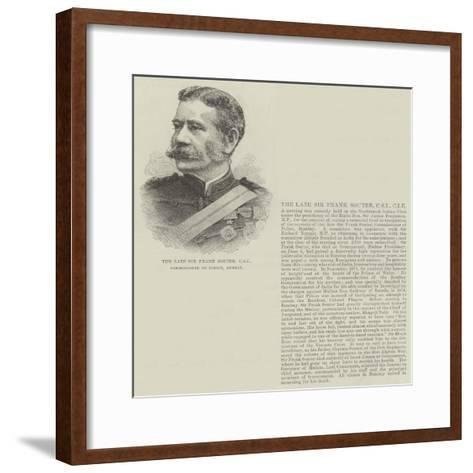 The Late Sir Frank Souter, Csi, Commissioner of Police, Bombay--Framed Art Print