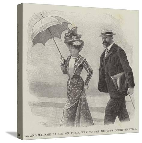 M and Madame Labori on their Way to the Dreyfus Court-Martial--Stretched Canvas Print