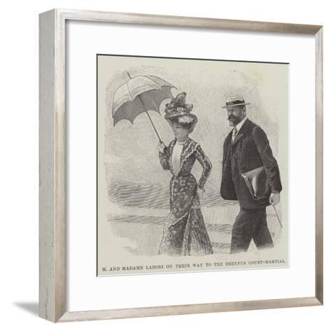 M and Madame Labori on their Way to the Dreyfus Court-Martial--Framed Art Print