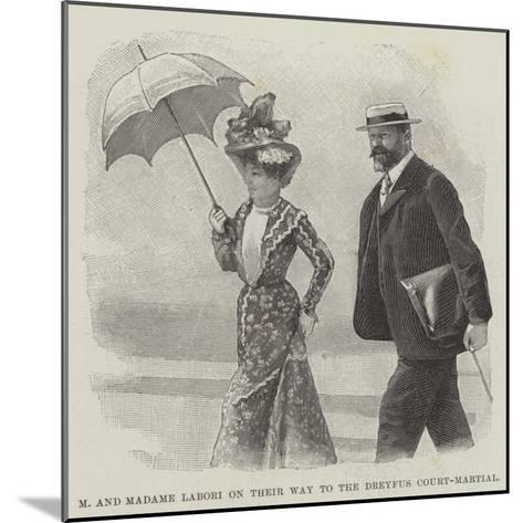 M and Madame Labori on their Way to the Dreyfus Court-Martial--Mounted Giclee Print