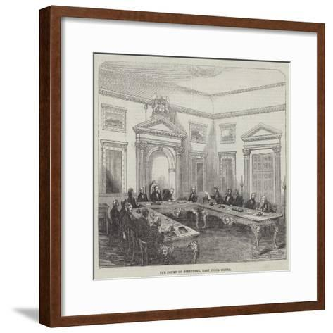 The Court of Directors, East India House--Framed Art Print