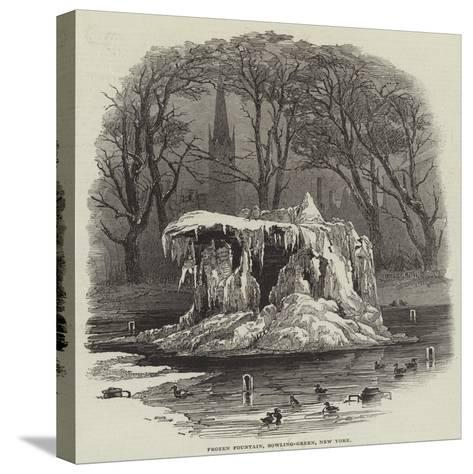 Frozen Fountain, Bowling-Green, New York--Stretched Canvas Print