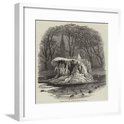 Frozen Fountain, Bowling-Green, New York--Framed Art Print
