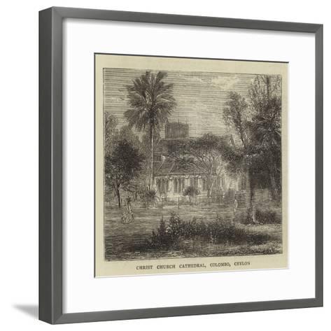 Christ Church Cathedral, Colombo, Ceylon--Framed Art Print