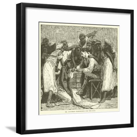 Dr Davidson Prescribing for the Sick--Framed Art Print