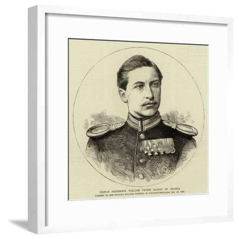 Prince Frederick William Victor Albert of Prussia--Framed Art Print
