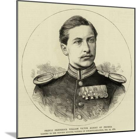 Prince Frederick William Victor Albert of Prussia--Mounted Giclee Print