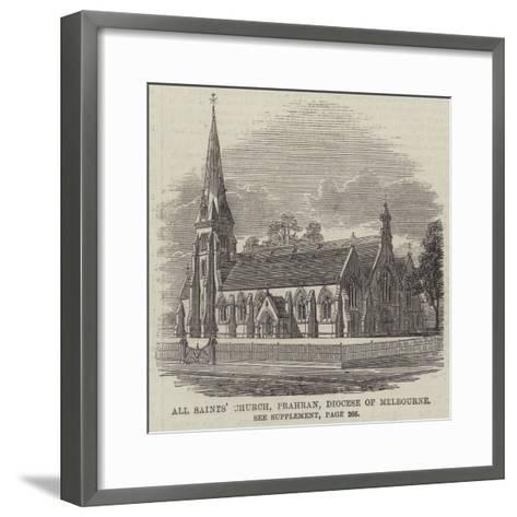 All Saints' Church, Prahran, Diocese of Melbourne--Framed Art Print