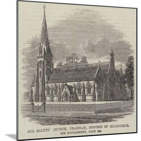 All Saints' Church, Prahran, Diocese of Melbourne--Mounted Giclee Print