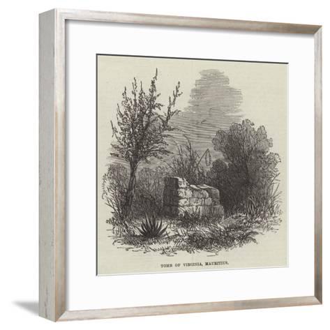 Tomb of Virginia, Mauritius--Framed Art Print