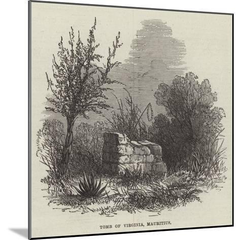 Tomb of Virginia, Mauritius--Mounted Giclee Print