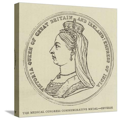 The Medical Congress Commemorative Medal, Obverse--Stretched Canvas Print