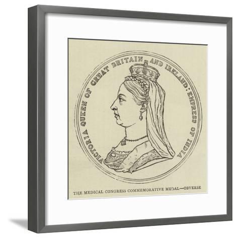 The Medical Congress Commemorative Medal, Obverse--Framed Art Print