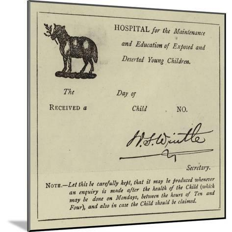Receiving a Child at the Foundling Hospital--Mounted Giclee Print