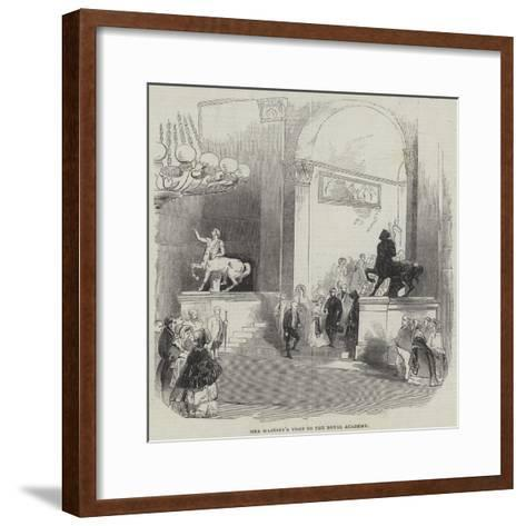 Her Majesty's Visit to the Royal Academy--Framed Art Print