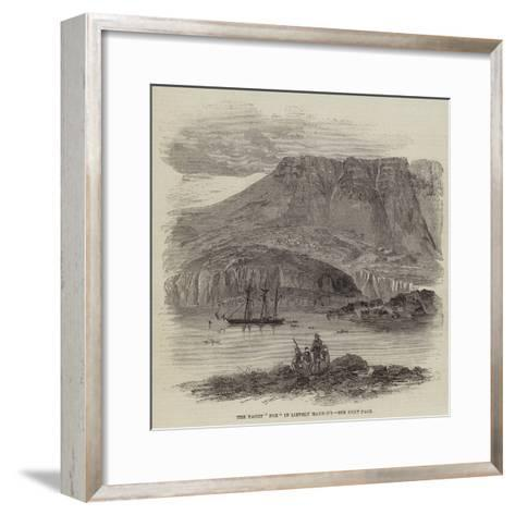 The Yacht Fox in Lievely Harbour--Framed Art Print