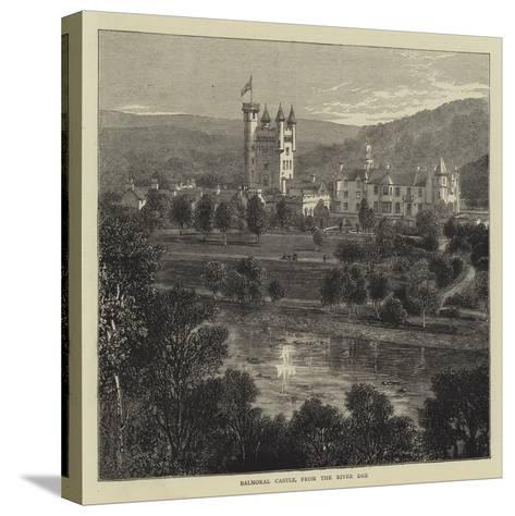 Balmoral Castle, from the River Dee--Stretched Canvas Print