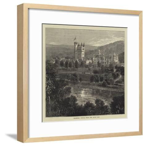 Balmoral Castle, from the River Dee--Framed Art Print