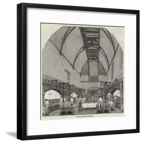 The Royal Kitchen in Windsor Castle--Framed Art Print
