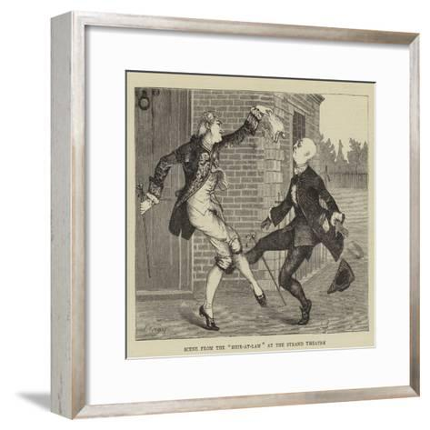 Scene from the Heir-At-Law at the Strand Theatre--Framed Art Print