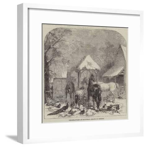 The Strawyard at Christmas--Framed Art Print