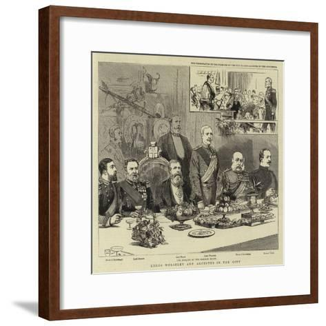 Lords Wolseley and Alcester in the City--Framed Art Print