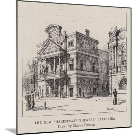 The New Shakespeare Theatre, Battersea--Mounted Giclee Print